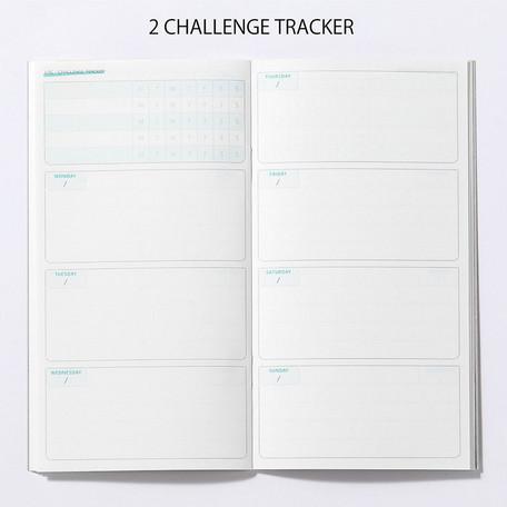 画像2: 【ネコポスOK】 PASSPORT NOTEBOOK LOG/ノート ログ CHALLENGE TRACKER 付き WEEKLY