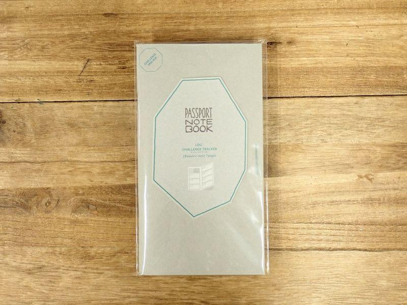 画像1: 【ネコポスOK】 PASSPORT NOTEBOOK LOG/ノート ログ CHALLENGE TRACKER 付き WEEKLY