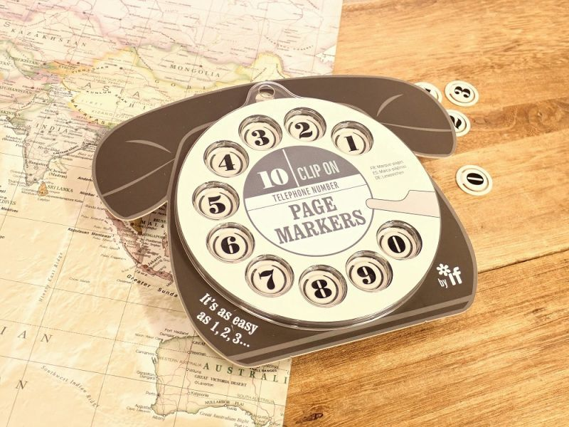 画像1: 【ネコポスOK】 イギリス IF TELEPHONE NUMBER PAGEMARKERS ブラック