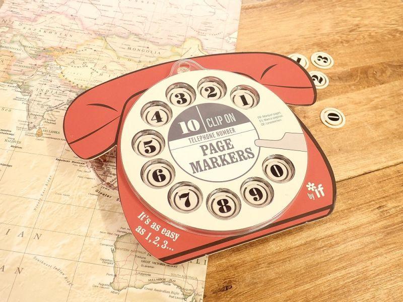 画像1: 【ネコポスOK】 イギリス IF TELEPHONE NUMBER PAGEMARKERS レッド