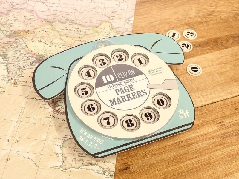 画像1: 【ネコポスOK】 イギリス IF TELEPHONE NUMBER PAGEMARKERS ブルー