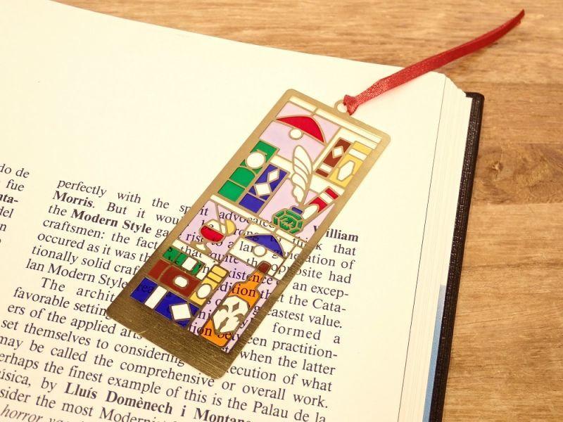 画像1: 【ネコポスOK】 ステンドグラス風 ブックマーク BookBar
