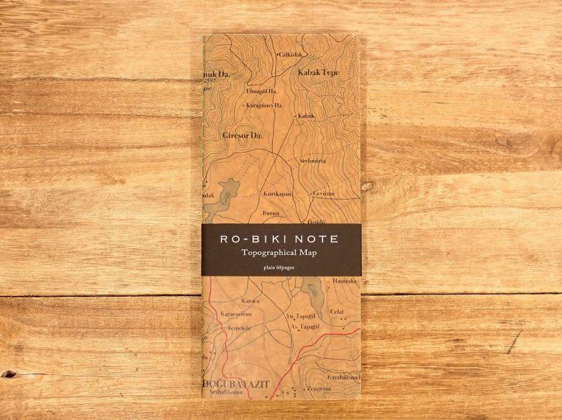 画像2: 【ネコポスOK】 RO-BIKI NOTE/蝋引きノート Topographical Map
