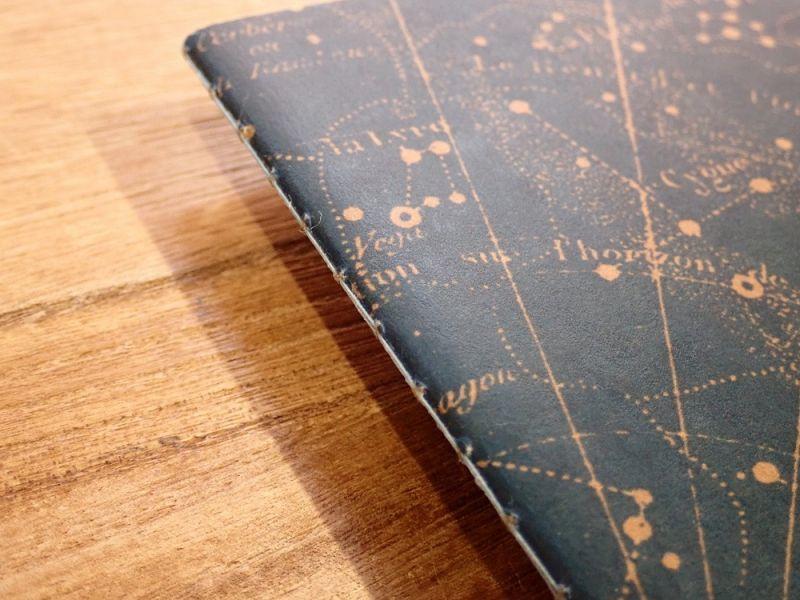 画像3: 【ネコポスOK】 RO-BIKI NOTE/蝋引きノート Star Map