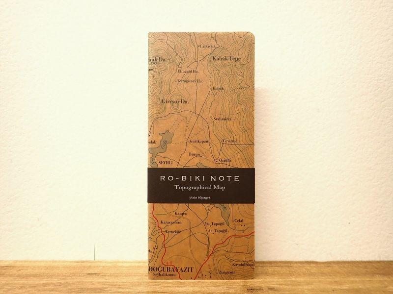 画像1: 【ネコポスOK】 RO-BIKI NOTE/蝋引きノート Topographical Map