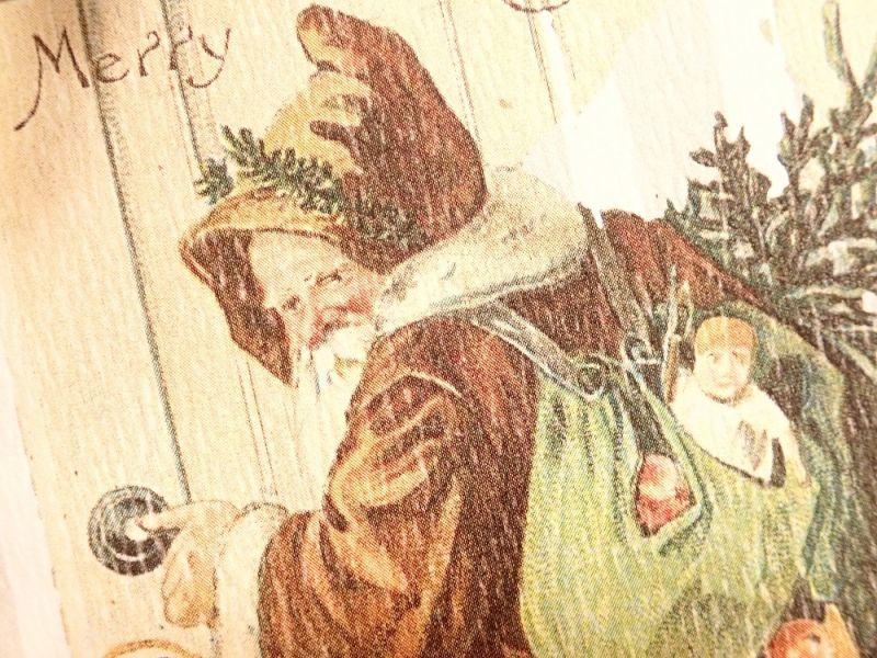 画像2: 【ネコポスOK】   ドイツ Hannelore/ハンネローレ グリーティングカード(4つ折り) Santa Door