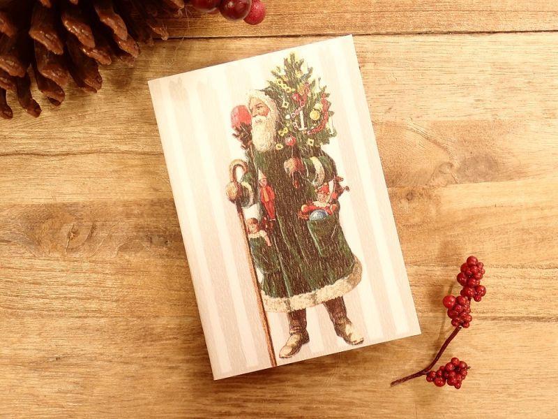 画像1: 【ネコポスOK】   ドイツ Hannelore/ハンネローレ グリーティングカード(4つ折り) Santa Green