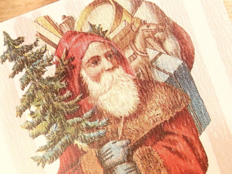 画像2: 【ネコポスOK】   ドイツ Hannelore/ハンネローレ グリーティングカード(4つ折り) Santa Red