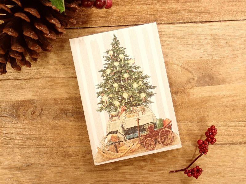画像1: 【ネコポスOK】   ドイツ Hannelore/ハンネローレ グリーティングカード(4つ折り) Christmas Tree