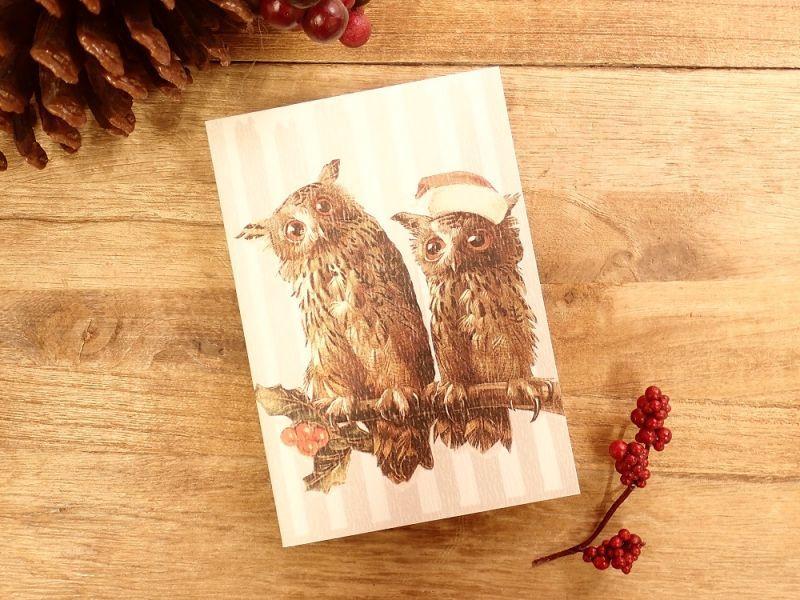 画像1: 【ネコポスOK】   ドイツ Hannelore/ハンネローレ グリーティングカード(4つ折り) Christmas  Owl