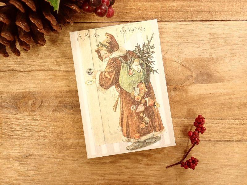 画像1: 【ネコポスOK】   ドイツ Hannelore/ハンネローレ グリーティングカード(4つ折り) Santa Door