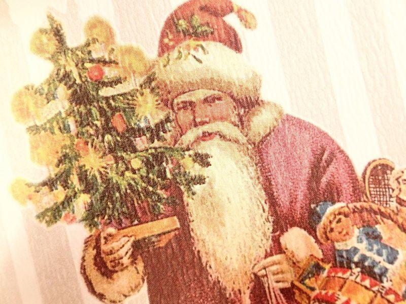 画像2: 【ネコポスOK】   ドイツ Hannelore/ハンネローレ グリーティングカード(4つ折り) Santa Pink