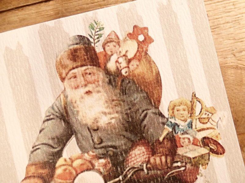 画像2: 【ネコポスOK】   ドイツ Hannelore/ハンネローレ グリーティングカード(4つ折り) Santa Motorcycle
