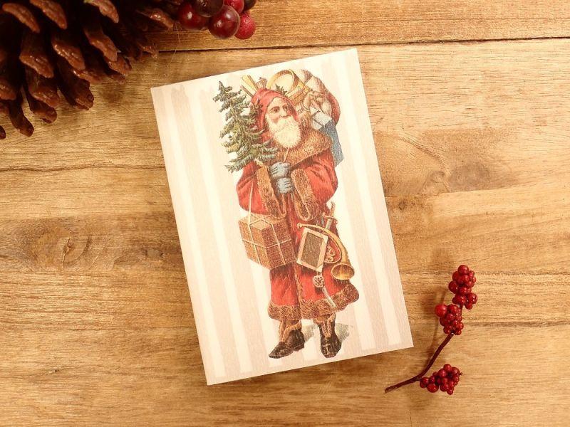 画像1: 【ネコポスOK】   ドイツ Hannelore/ハンネローレ グリーティングカード(4つ折り) Santa Red