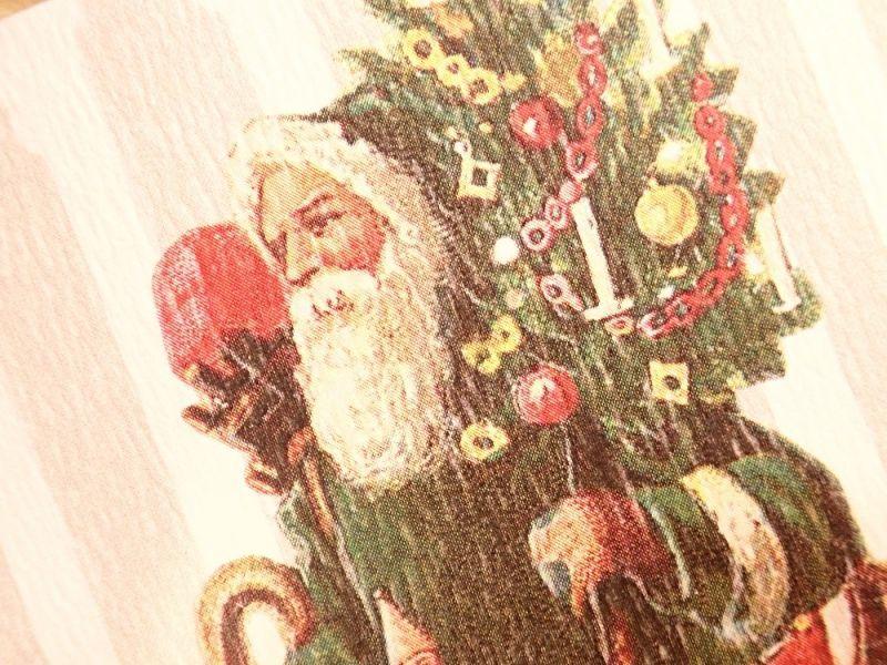 画像2: 【ネコポスOK】   ドイツ Hannelore/ハンネローレ グリーティングカード(4つ折り) Santa Green