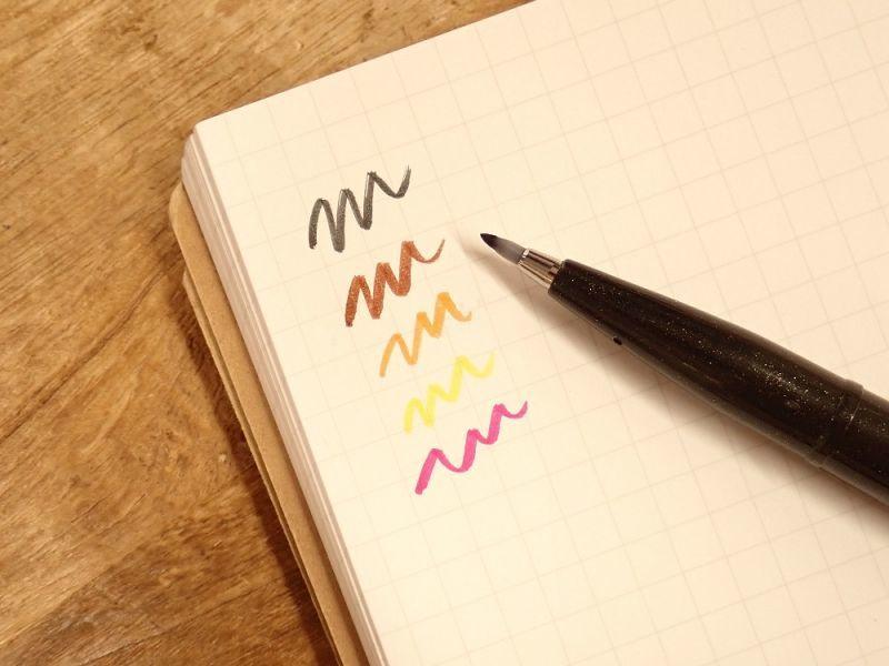 画像2: 【ネコポス△】 ぺんてる 筆 touch サインペン 5色セット 赤系