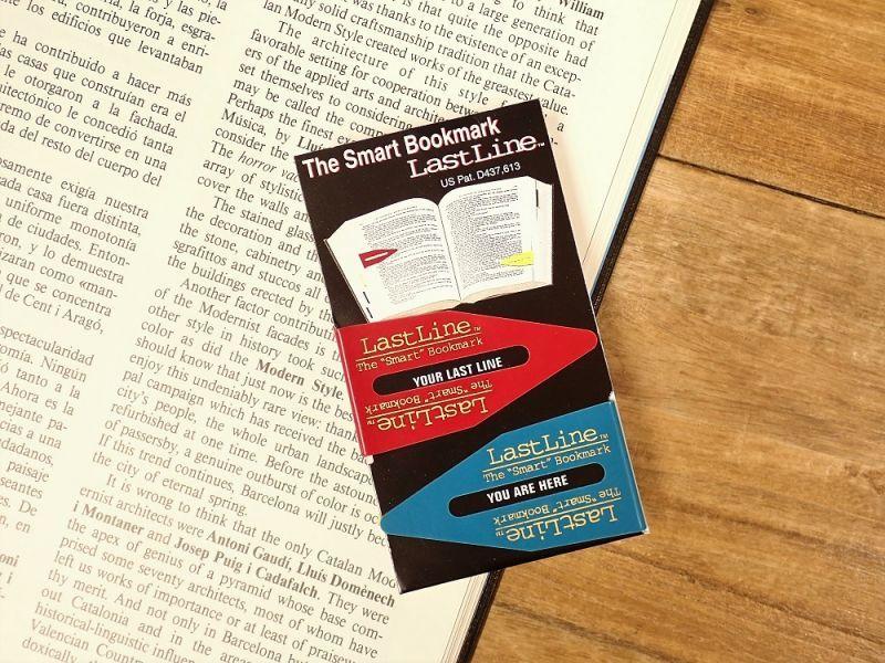 画像2: 【ネコポスOK】 カナダ Last Line BOOKMARK/ブックマーカー 2個セット ブルー/レッド