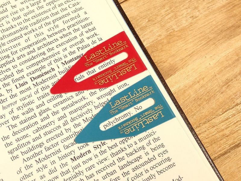 画像1: 【ネコポスOK】 カナダ Last Line BOOKMARK/ブックマーカー 2個セット ブルー/レッド