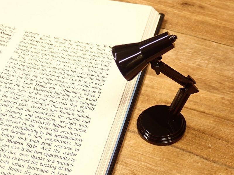 画像1: 【ネコポスNG】 イギリス The Book Lamp/ブックランプ ブラック