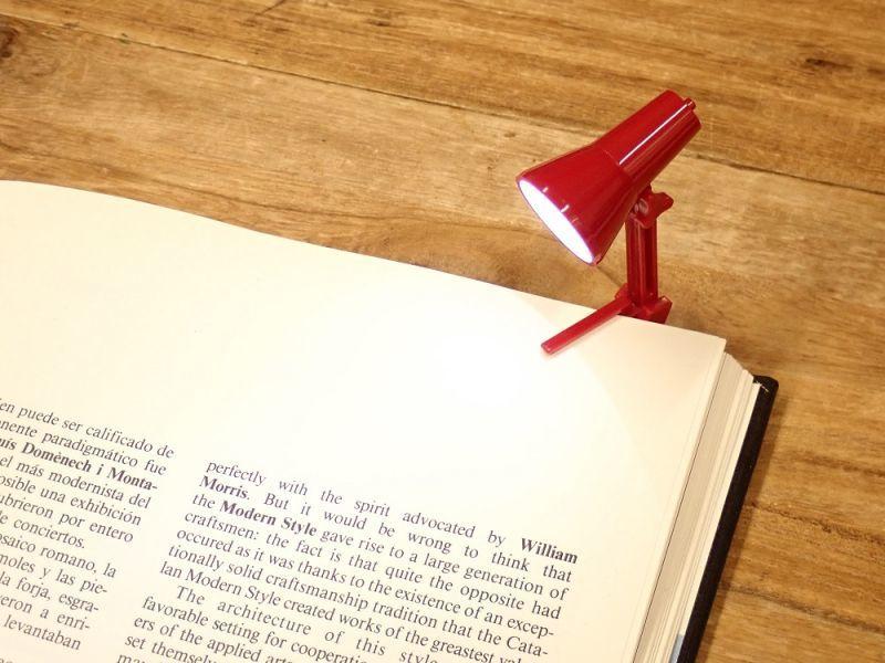 画像2: 【ネコポスNG】 イギリス The Book Lamp/ブックランプ レッド