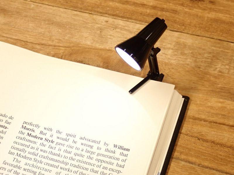 画像2: 【ネコポスNG】 イギリス The Book Lamp/ブックランプ ブラック