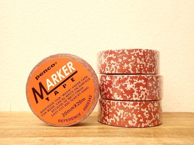 画像1: 【ネコポスOK】 マスキングテープ MARKER TAPE スパタ柄 レッド