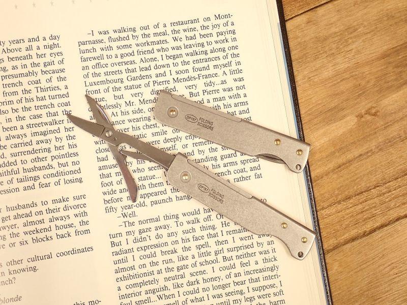 画像1: 【ネコポスOK】 Folding Scissors/フォールディングシザーズ シルバー