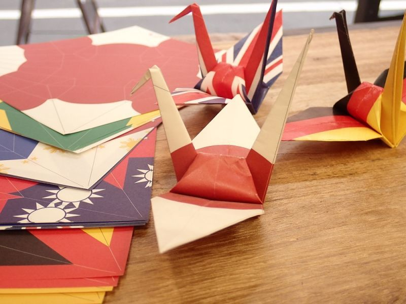 画像2: 【ネコポスOK】 おりがみ おりづる flag design 48枚入り