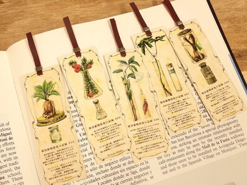 画像3: 【ネコポスOK】 生みたて卵屋 栞セット 薬用植物採集の記録 001-010