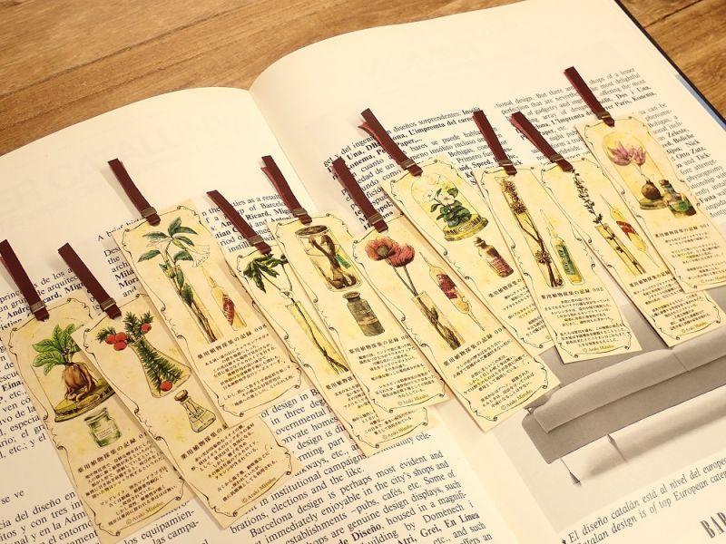 画像1: 【ネコポスOK】 生みたて卵屋 栞セット 薬用植物採集の記録 001-010