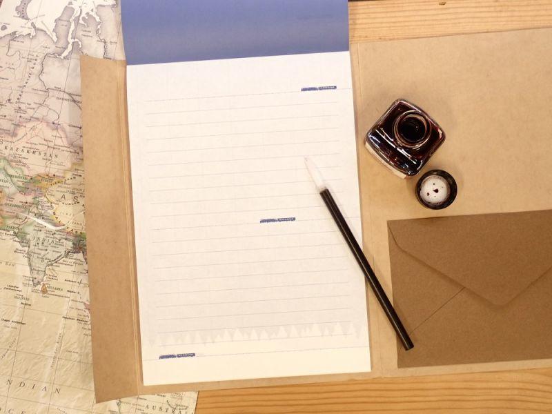 画像3: 【ネコポスOK】 ふみ鉄 便箋5色 モダン