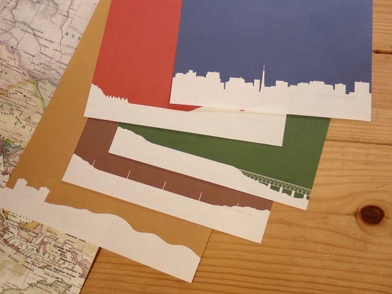 画像4: 【ネコポスOK】 ふみ鉄 便箋5色 レトロ