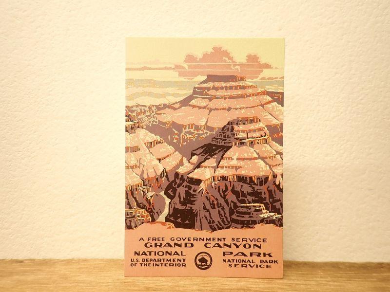 画像1: 【ネコポスOK】 アメリカ CAVALLINI/カバリーニ ポストカード NATIONAL PARKS  GRAND CANYON