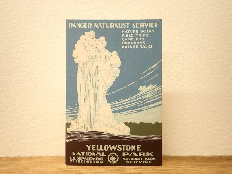画像1: 【ネコポスOK】 アメリカ CAVALLINI/カバリーニ ポストカード NATIONAL PARKS  YELLOWSTONE