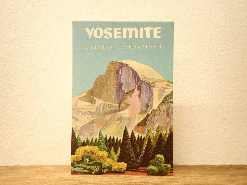 画像1: 【ネコポスOK】 アメリカ CAVALLINI/カバリーニ ポストカード NATIONAL PARKS  YOSEMITE