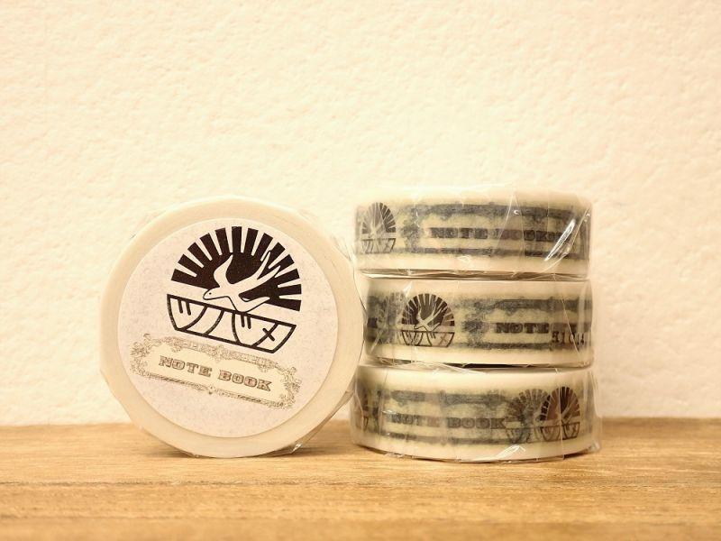 画像1: 【ネコポスOK】 マスキングテープ ツバメノートロゴ
