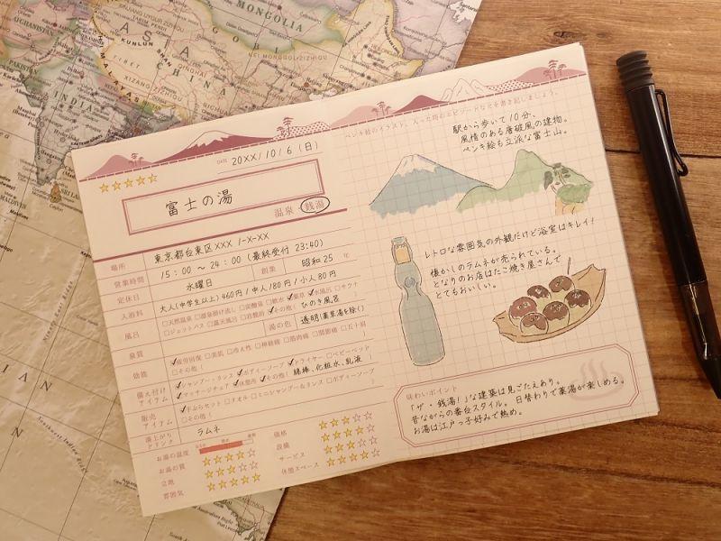 画像3: 【ネコポスOK】 watashi lassic. ジャーナルノート Onsen&Sentou
