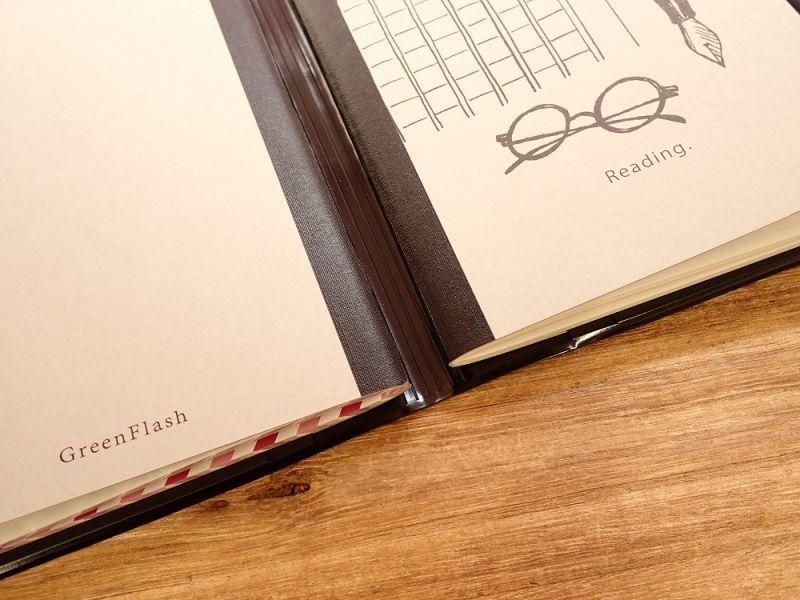 画像4: 【ネコポスOK】 watashi lassic. ジャーナルノートカバー えんじ