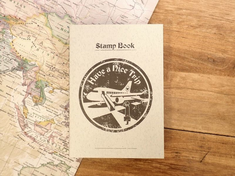 画像1: 【ネコポスOK】 旅屋オリジナル Stamp Book/スタンプブック 飛行機