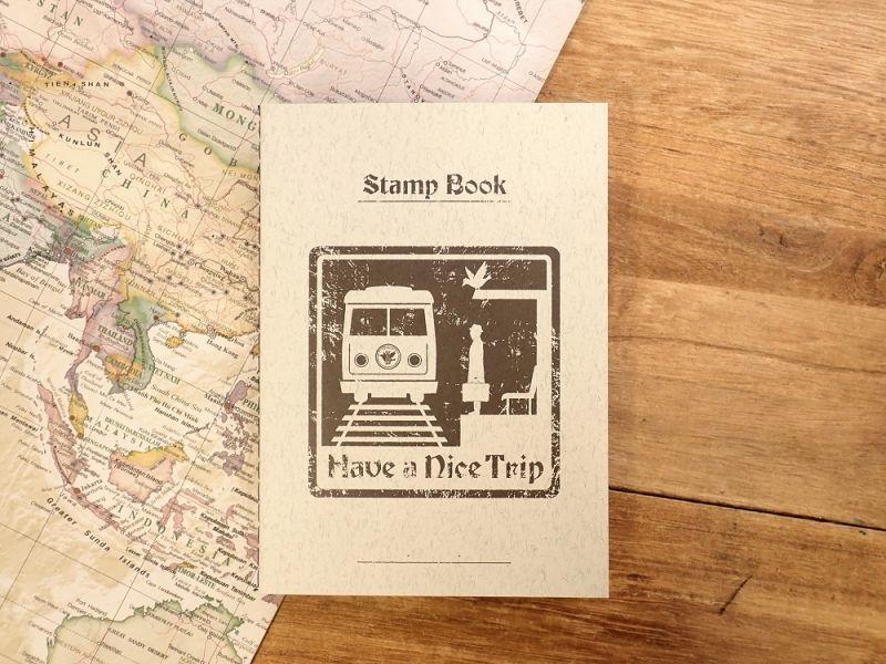 画像1: 【ネコポスOK】 旅屋オリジナル Stamp Book/スタンプブック 電車