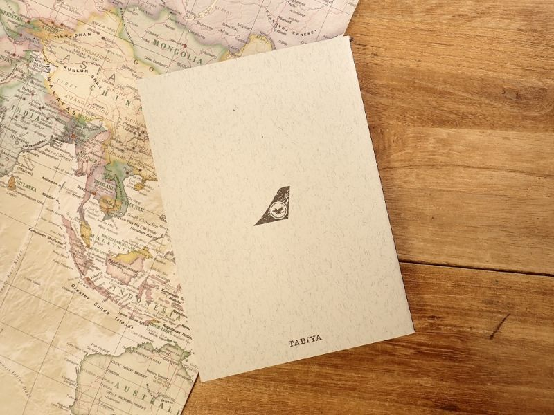 画像2: 【ネコポスOK】 旅屋オリジナル Stamp Book/スタンプブック 飛行機