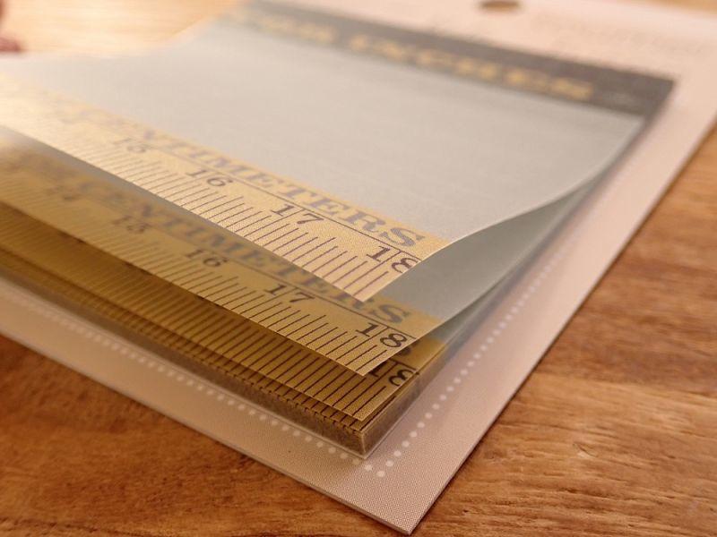 画像2: 【ネコポスOK】 toumei fusen/半透明グラシン紙付箋 RULER