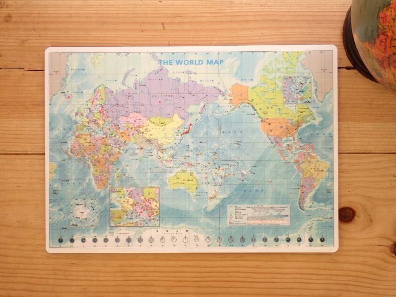 画像1: 【ネコポスOK】 世界地図の下敷き A4