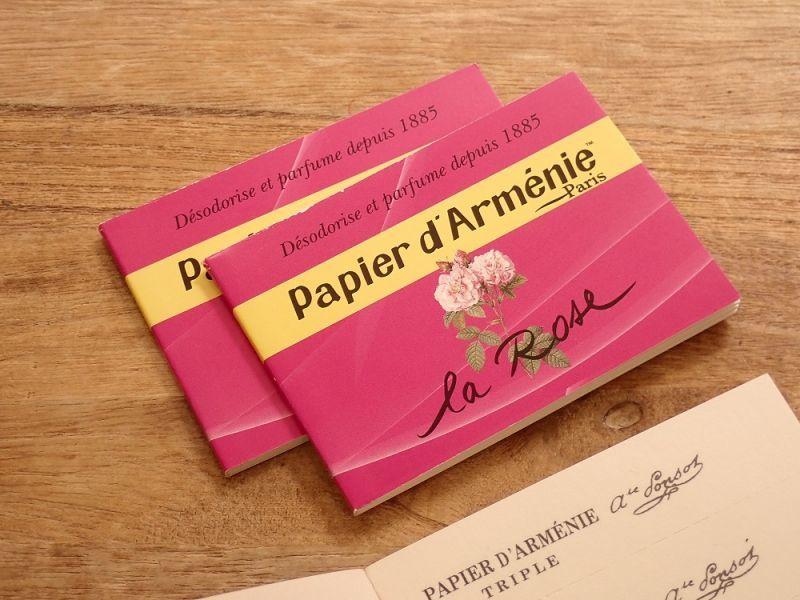 画像1: 【ネコポスOK】 フランス papier darmenie/パピエダルメニイ 紙のお香 la rose(1個)