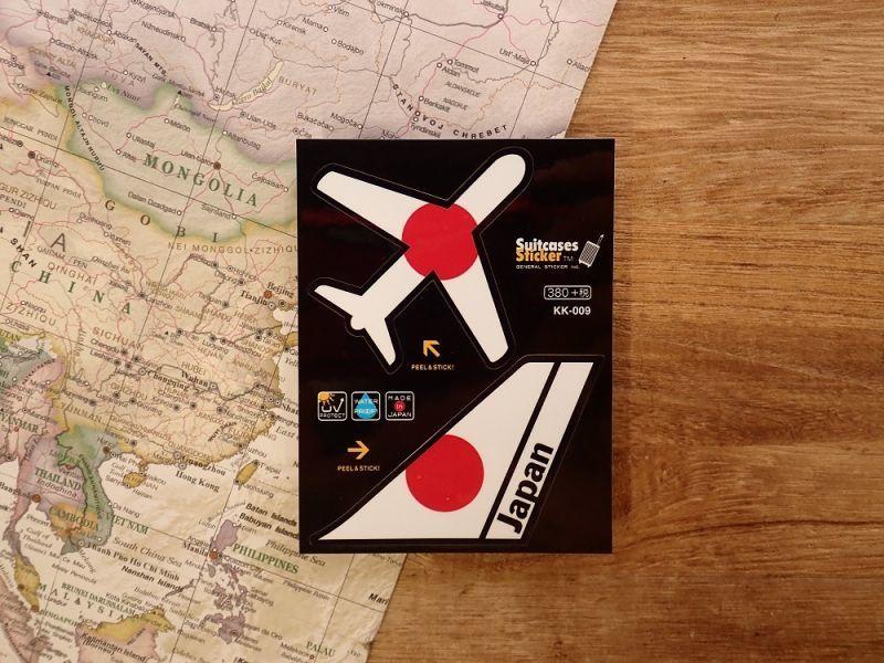 画像1: 【ネコポスOK】 機体国旗ステッカー JAPAN/日本
