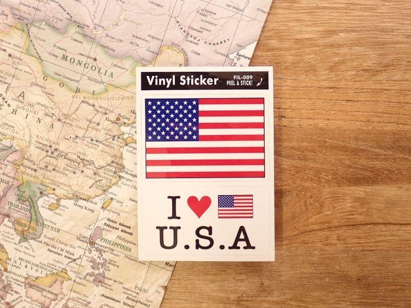 画像1: 【ネコポスOK】 国旗ステッカー AMERICA/アメリカ