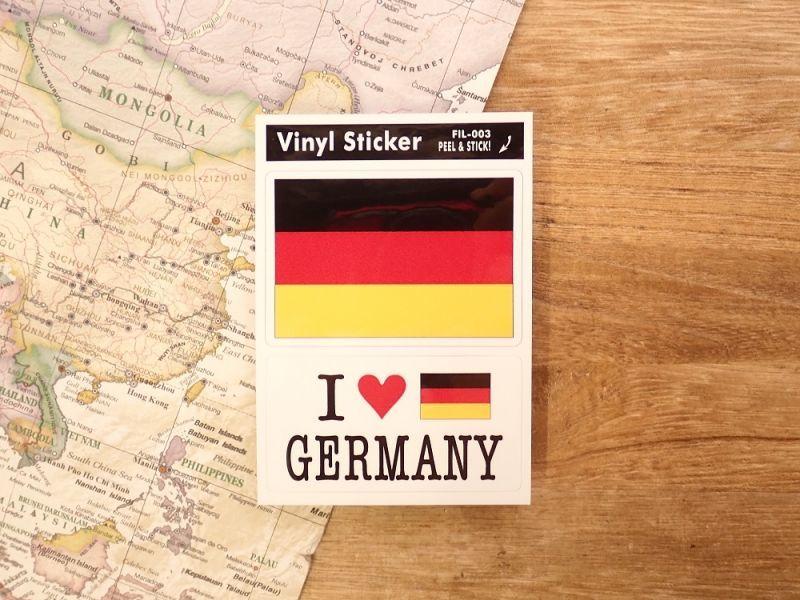 画像1: 【ネコポスOK】 国旗ステッカー GERMANY/ドイツ