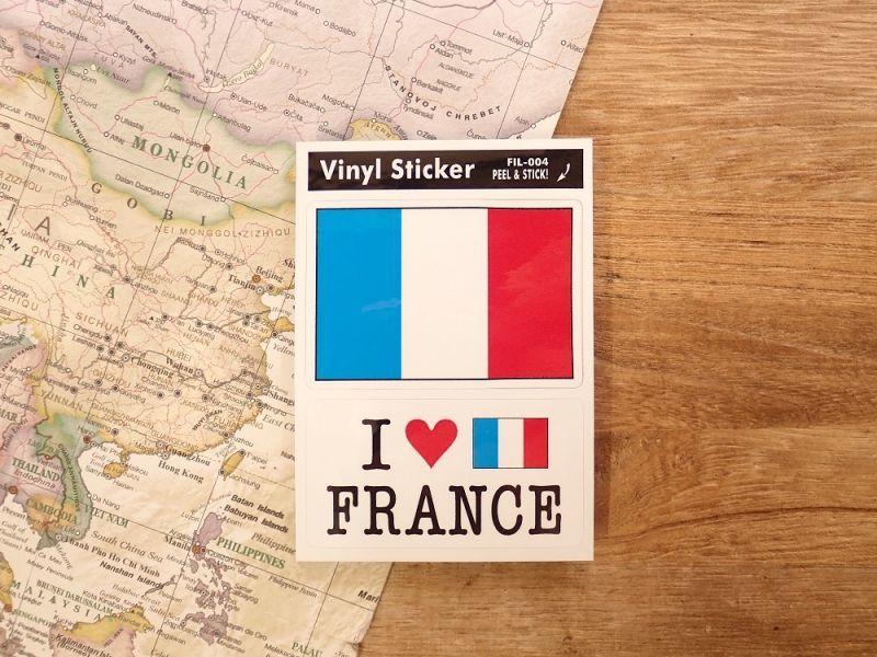 画像1: 【ネコポスOK】 国旗ステッカー FRANCE/フランス