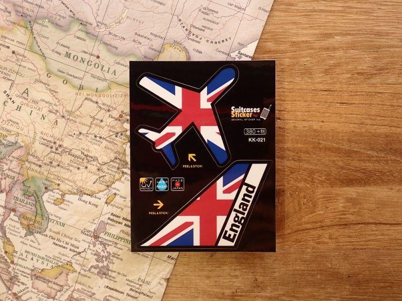 画像1: 【ネコポスOK】 機体国旗ステッカー ENGLAND/イギリス