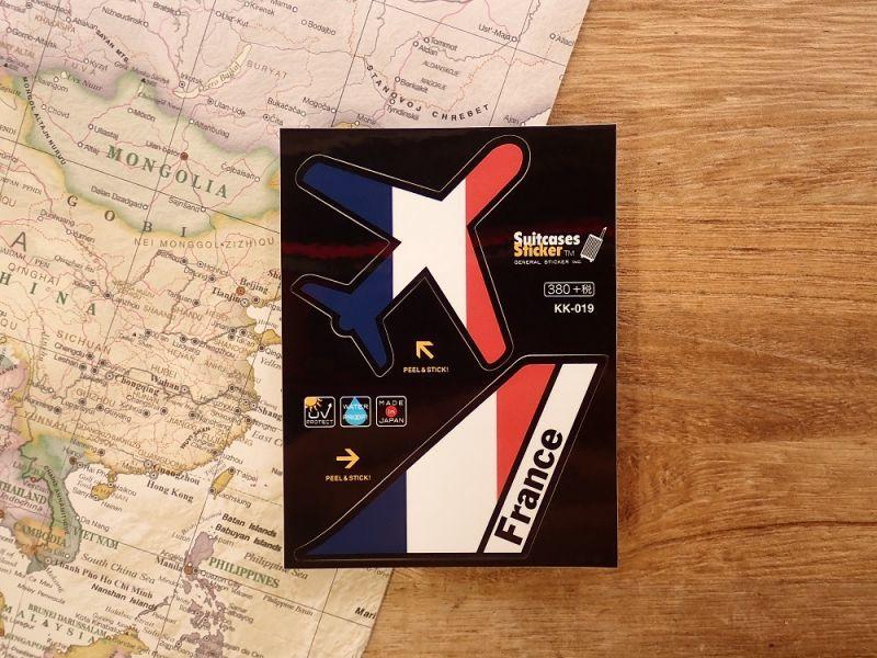 画像1: 【ネコポスOK】 機体国旗ステッカー FRANCE/フランス